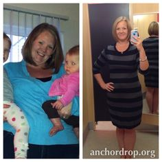 Back On the Wagon - Anchor Drop ... such an encouraging story! #weightloss #fitness