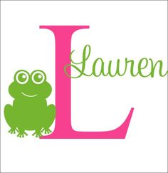 Personalized Frog Decal Frog Wall Decal by CustomVinylbyBridge