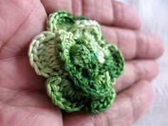 Clutch Back Flower Pin 1&1/2 inch Variegated Avocado by wuglyees, $10.00