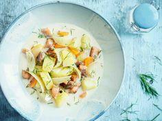 Cobb Salad, Soup Recipes, Potato Salad, Potatoes, Cooking, Ethnic Recipes, Soups, Kitchen, Potato