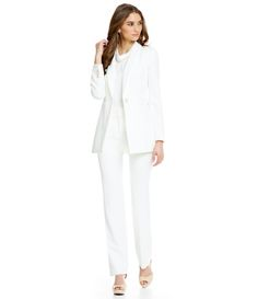 Ivory Crepe Suiting / Spring / Summer / Suit/ work wear / office chic / wedding