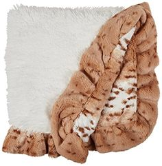 BESSIE AND BARNIE Pet Blanket Small Snow WhiteSnow Leopard with Ruffle *** Continue to the product at the image link. This is an Amazon Affiliate links.