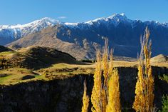 The Remarkables from Coronet Peak Road, Autumn - Queenstown : New Zealand : Sisson ~