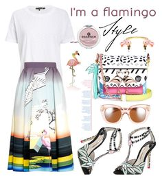 """""""My flamingo style for Spring"""" by hamaly ❤ liked on Polyvore featuring Sophia Webster, rag & bone/JEAN, Kate Spade, Essence, Bijoux de Famille, prints, SpringStyle, flamingo and waystowear"""