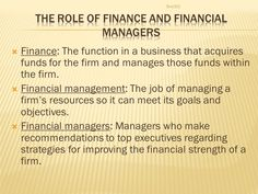 FINANCIAL MANAGEMENT Bus The importance of finance and financial ... Goals And Objectives, Financial Goals, No Response, Investing, Finance, Management, Organization, How To Plan, Business