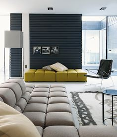 Modern Prefabricated Home Showcases High-End Furniture from B Italia!   Modern House Designs