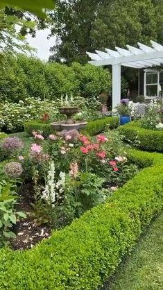 Cottage Garden Design, Backyard Garden Design, Yard Design, English Garden Design, Garden Design Plans, House Landscape, Garden Landscape Design, Pasto Natural, Front Yard Landscaping