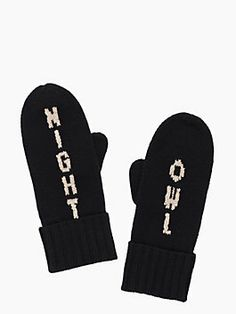 night owl mitten - kate spade new york Mitten Gloves, Mittens, Kate Spade New York, Owl Always Love You, Kate Spade Handbags, Night Owl, Cute Owl, Selling On Ebay, Purses
