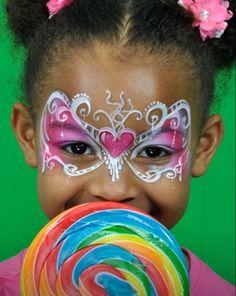 Gorgeous face painting Princess Mask