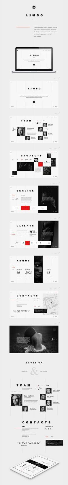 L I M B O - web design by Dmitry Kolesnikov - #web #behance