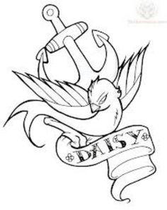 acfbb3429e5f Evil swallow Anchor Bird Tattoos