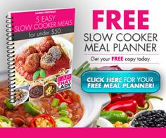 Here is a free meal plan where you can get all the ingredients to make 20 slow cooker meals at Aldi for under $150.00! Printable shopping lists, recipes.