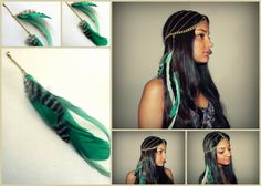 Detachable AddOn Feathers for Head Chains  Jasmine by PLUMEUPHORIA, $12.00