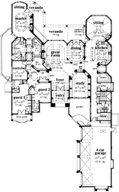 Octagonal Dining and Sitting Rooms - 33523EB | Florida, Mediterranean, Southern, Exclusive, Luxury, 1st Floor Master Suite, Butler Walk-in Pantry, CAD Available, Den-Office-Library-Study, MBR Sitting Area, PDF | Architectural Designs