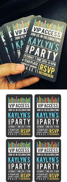 Kaylyns Dance Party Invites