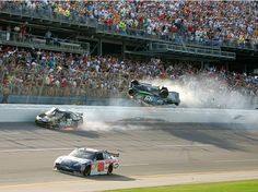 talladega superspeedway | the catch fencing at the NASCAR Aaron's 499 at Talladega Superspeedway ...