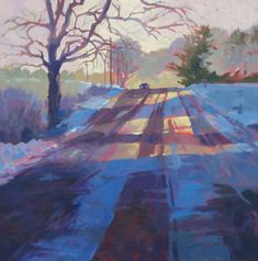 Corner of #2. Mark Mehaffey. Down the country road