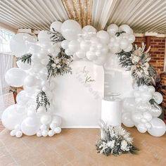 Transparent Balloons, White Balloons, Balloon Garland, Balloon Arch, Bachelorette Party Decorations, Wedding Decorations, Bachelorette Parties, Magic Decorations, White Party Decorations