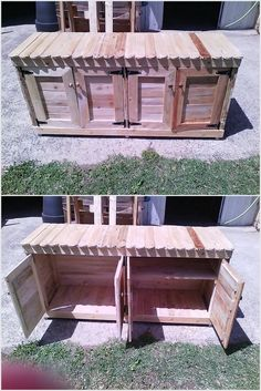 If you have lots of things to save then you should make this beautiful project for yourself. We have only used old wooden pallets that were good in condition. You can make cabinets in this project to make it more functional.