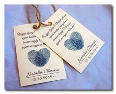 Zawieszki na alkohol butelkę Hearts - Zawieszki / Dodatki Ślubne - Vision-Art Vision Art, Place Cards, Place Card Holders, Weddings, Xmas, Alcohol, Wedding, Marriage