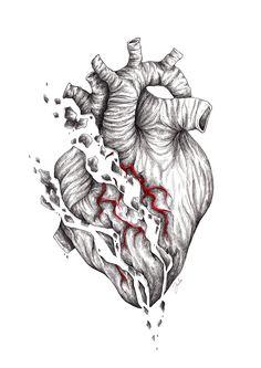 with every fucking heartbeat Pencil Sketch Drawing, Biomechanical Tattoo, Dark Art Drawings, Anatomical Heart, Expressive Art, Anatomy Art, Heart Art, Art Inspo, Line Art