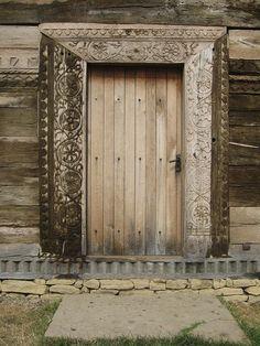 Biserica de lemn din Stolniceni-Prăjescu7 - Biserica de lemn Nașterea Maicii… History Of Romania, Traditional House, Portal, Walls, Windows, Doors, Frame, Creative, Home Decor