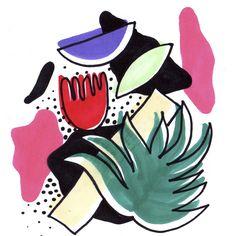 #bigotesucio #illustration #color #pattern #design #tropical