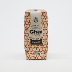 Bottle Design, Packaging Design Inspiration, Chai, Drink Bottles, Yogurt, Latte, Scandinavian, Drinks, Drinking