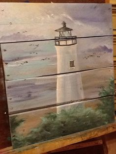 Lighthouse pallet painting https://www.etsy.com/listing/189797890/ocean-beach-scape-pallet-art-sign?ref=sr_gallery_35&ga_ref=unav_listing&ga_filters=original_painting&ga_search_type=all&ga_view_type=gallery