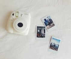 Polaroid Camera Urban Outfitters : Yellow polaroid camera i have this one aesthetic