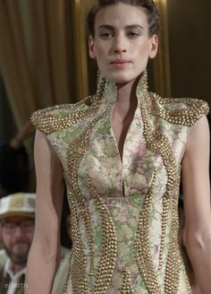 Haute Couture gold beaded by Dutch designer Jan Taminiau