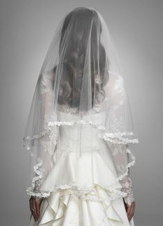 I know it's supposed to be inspired by the royal wedding, but i LOVE this veil!!