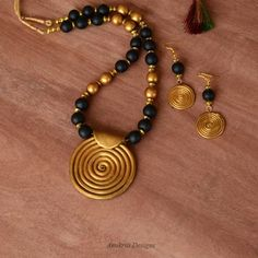 Indian jewelry Terracotta jewelry Polymer by AnukritiDesigns