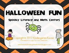 Halloween Math and Literacy Activities and Centers