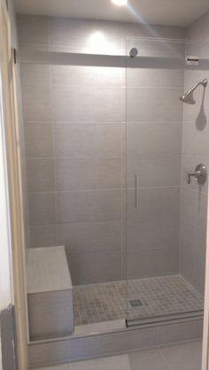 Done by Urban Home Design  Bathroom - Porcelain tile shower Grey tone