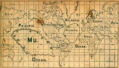 """""""...mapas medievais até hoje inexplicados mostram a América, Austrália e Antártida com formas quase perfeitas, condizentes com descobertas feitas séculos depois. Exemplos são o Mapa de Piri Ibn Haji (copiado de um mapa que estava na Biblioteca de Alexandria, com a descrição da América) e o mapa de Calopodio (1537, descrevendo a Antártida)."""