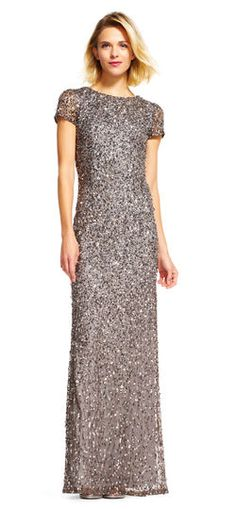 Adrianna Papell | Scoop Back Sequin Gown