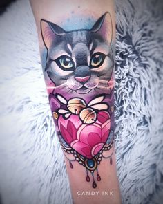Awesome Cat Tattoo Design Pet Animal Inspiration