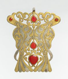 """Citation  """"Pectoral ornament [Central Asia or Iran, Tekke tribe] (2008.579.3)"""". In Heilbrunn Timeline of Art History. New York: The Metropolitan Museum of Art, 2000–. http://www.metmuseum.org/toah/works-of-art/2008.579.3 (May 2012)    Collections  See complete record.  See all records from Islamic Art.    Heilbrunn Timeline of Art History  About the Timeline 