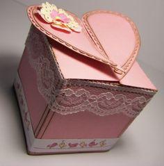 free heart box svg file
