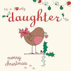 handmade daughter christmas card by laura sherratt designs | notonthehighstreet.com