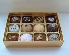 Crochet and knitted chocolates. #amigurumi #crochet #knitting
