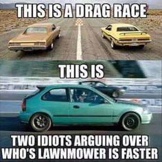 Meme of the Day: Real Drag Racing – www. Meme des Tages: Real Drag Racing – www. Truck Memes, Funny Car Memes, Car Humor, Really Funny Memes, Funny Relatable Memes, Funny Cars, Truck Quotes, Mechanic Humor, Jacked Up Trucks