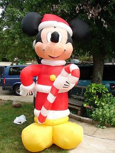 mickey mouse christmas inflatable yard decoration approximately over