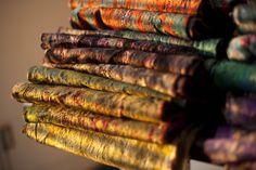 Sari scarves at sunset from theredsari.com