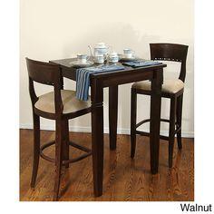 <li>Enrich your home decor with a Biedermier bar set</li> <li>Furniture features solid European beech wood construction</li> <li>Three-piece set includes one table and two bar stools</li>