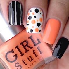 nails.quenalbertini: Polka dot and stripes