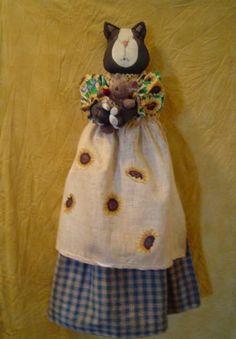 Pattern Cat Primitive Doll e-Pattern bagholder by Raggedyrhondas