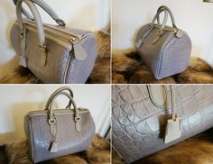It's a boston bag I designed and made by hand. It was made with crocodile pattern cow leather.