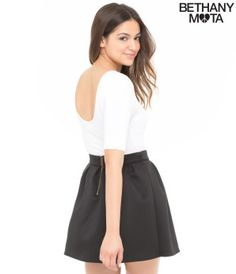 Solid Scoop Bodycon Tee - Bethany Mota Collection